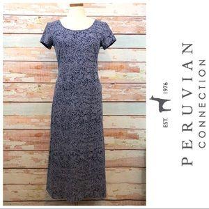 PERUVIAN Connection Midi Cotton Dress